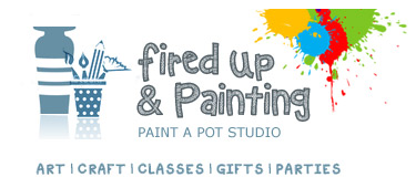 fired up and painting logo